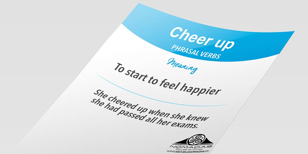 Cheer UP - English Phrasal Verb Flash Card - Nomadas Idiomas