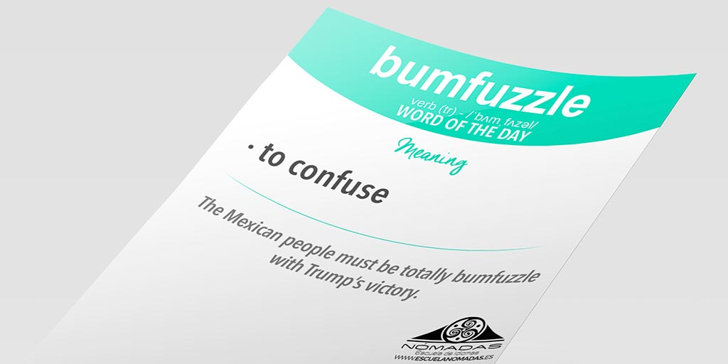 bumfuzzle-flashcard-word-of-the-day-nomadas-escuela-de-idiomas-ig