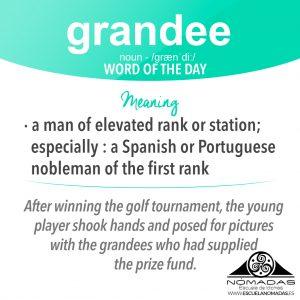 Grandee - Vocabulary Flashcard of english words - Nomadas Escuela de Idiomas