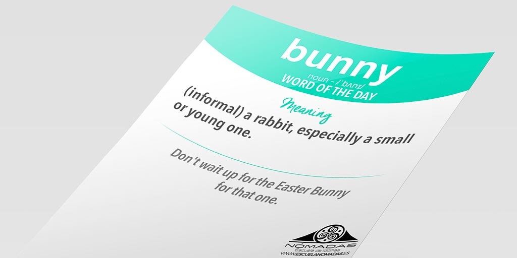 bunny-flashCARD-WORD-OF-THE-DAY-Nomadas-Escuela-de-Idiomas-alcazar-dde-san-juan-ciudad-real-cambridge-clases-ingles