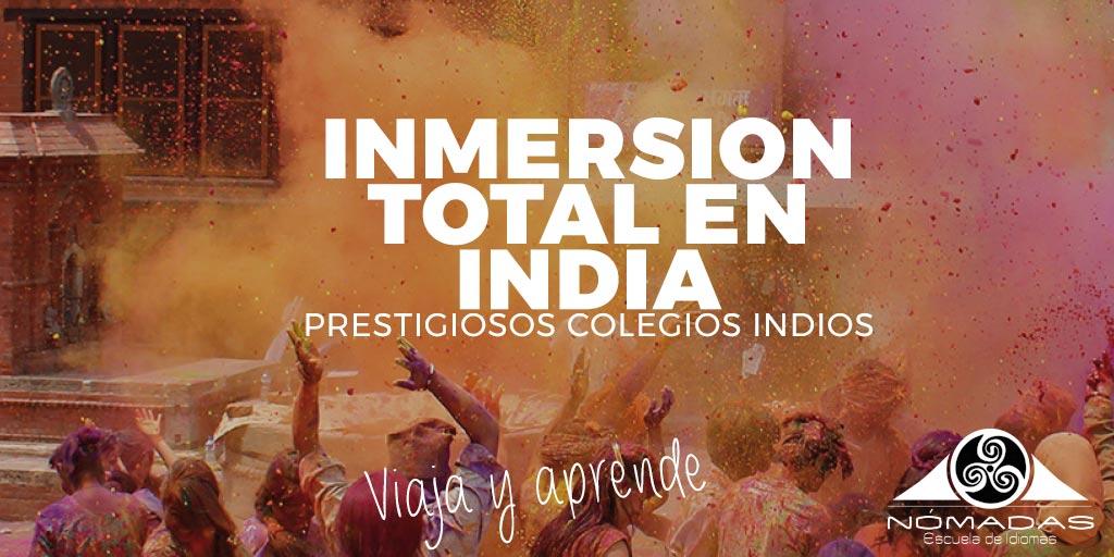 Curso de verano de inglés inmersión total en India con Escuela de Idiomas Nömadas Alcazar de San Juan