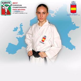 Nidia Garcia Moya subcampeona de Europa, y profesora del Campamento de ingles y karate en Ciudad Real