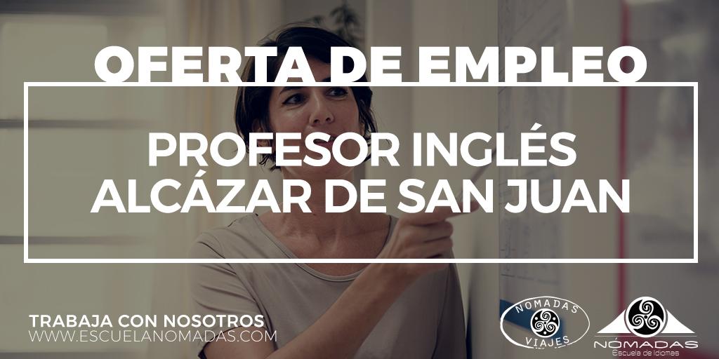 Oferta empleo profesor inglés en Alcazar de San Juan