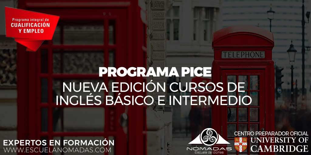 Programa PICE: curso de inglés básico y avanzado en Alcázar de San Juan - Escuela de Idiomas Nómadas